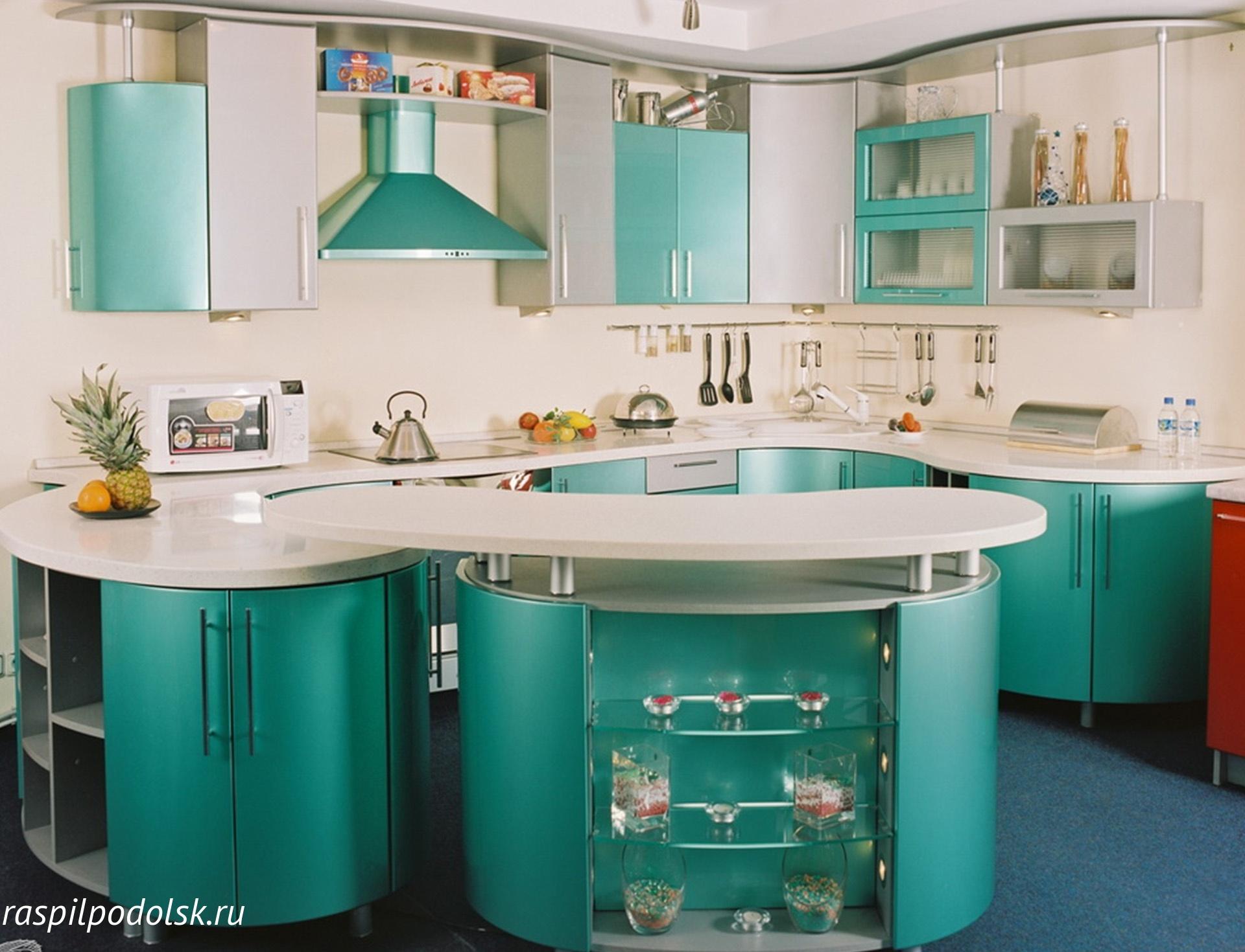 Кухня с гнутыми фасадами картинки